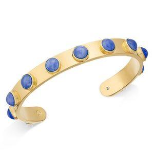 NWT Kate spade blue + gold cuff